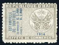 Image of 1914 Effects de Commerce revenue stamp