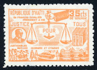 Image of Justice revenue tax stamp from the 1980s